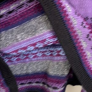design concepts by segrets Sweaters - Purple Knit Button Down Hooded Sweater Sz L